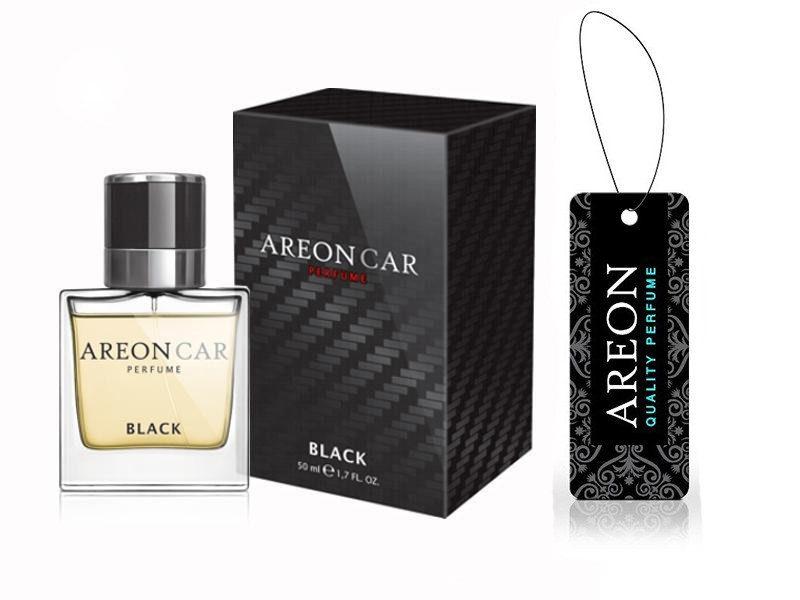 Bộ sản phẩm nước hoa ô tô Areon Car Black 50ml